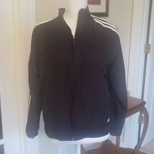 ADIDAS black windbreaker jacket size M